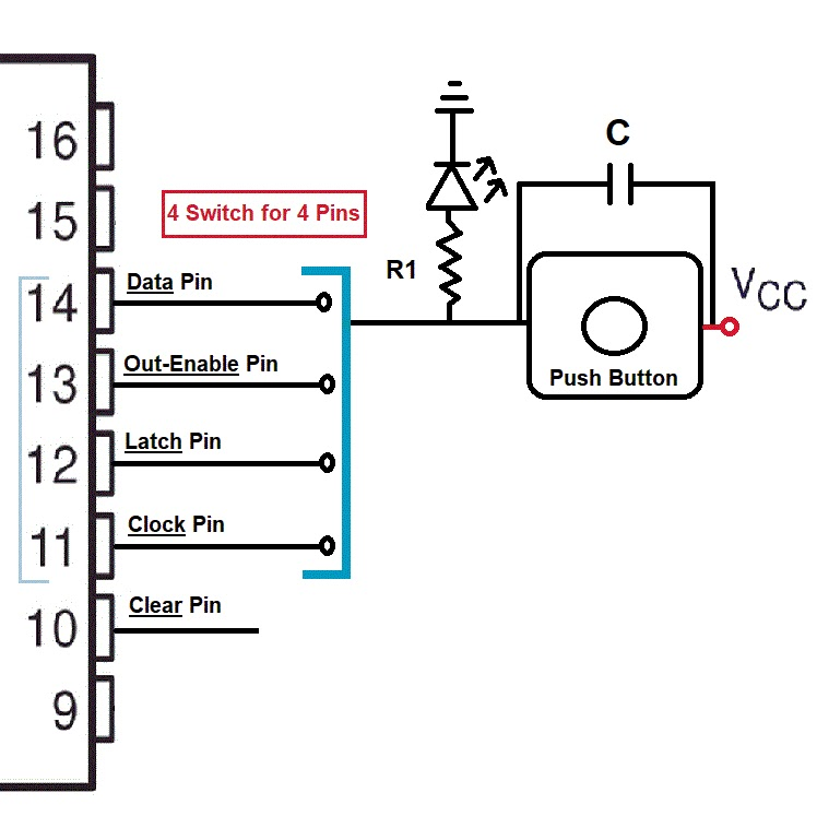 shift registers with circuit diagram