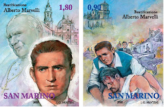 San Marino commemorated Marvelli with a set of stamps