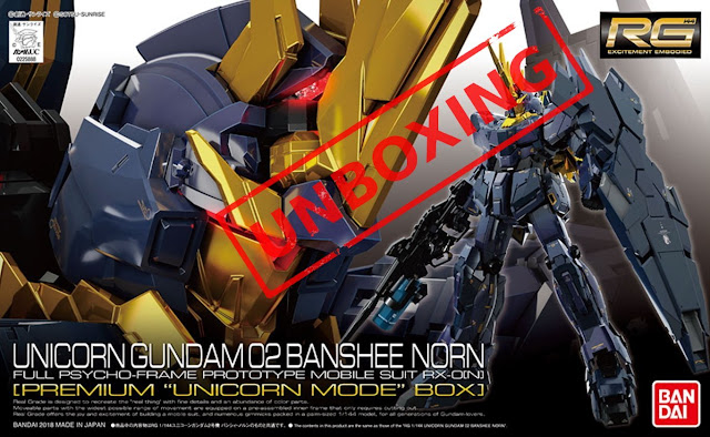 Unboxing RG Unicorn Gundam Banshee Norn