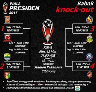 Hasil Undian & Jadwal Pertandingan Babak 8 Besar Piala Presiden 2017