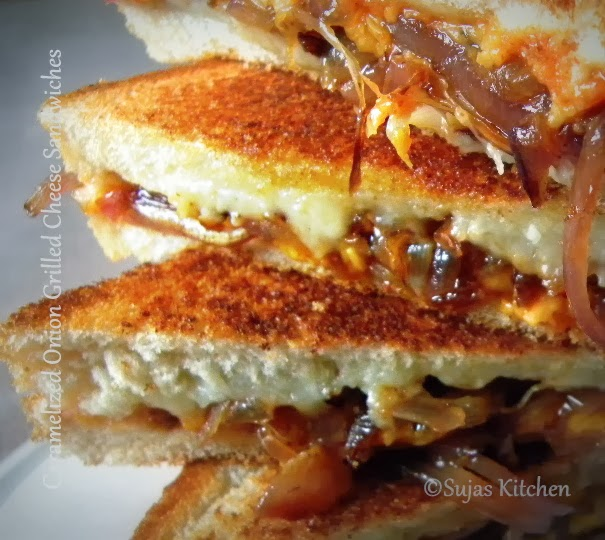 Caramelized Onion Grilled Cheese Sandwiches to satisfy your sweet & spicy cravings.