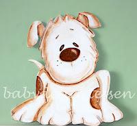 silueta de madera infantil perrito babydelicatessen