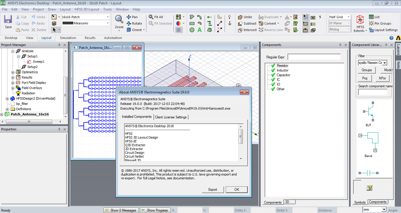 Software Solution: Ansys Electromagnetics Suite 19 0 , Ansys