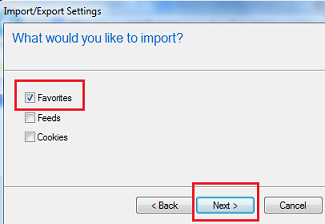 Import Bookmarks from Firefox to Internet Explorer