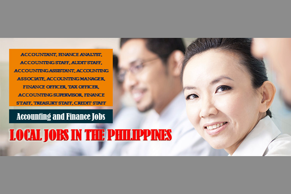 Are you looking for a local job? The following are job vacancies for you. If interested, you may contact the employer/agency listed below to inquire further or to apply.  Accounting and Finance  1. ACCOUNTING STAFF Apply before 8 Aug Office Address: 4F Tower 6789, Ayala Avenue,, Makati, Metro Manila, Philippines Vacancy: 10 openings Website: http://www.staff-alliance.com  2. DATA ANALYST | MPC Apply before 7 Aug Office Address: Warehouse 19 & 20, Armal Compound II, M. Eusebio Avenue, Brgy. San Miguel Pasig City, Pasig, Metro Manila, Philippines Vacancy: 1 opening Website: http://www.gingersnaps.com.ph  3. AUDIT STAFF  Apply before 7 Aug Office Address: Warehouse 19 & 20, Armal Compound II, M. Eusebio Avenue, Brgy. San Miguel Pasig City, Pasig, Metro Manila, Philippines Vacancy: 1 opening Website: http://www.gingersnaps.com.ph  4. ACCOUNTING ASSOCIATE Apply before 29 Jun Office Address: San Nicolas St, San Nicolas, Manila, Metro Manila, Philippines Vacancy: 1 opening Website: http://www.mptii.ph  5. ACCOUNTING ASSISTANT Apply before 7 Aug Office Address: 14F Room D, The World Center Buiding, Sen. Gil Puyat Ave. Makati City, Makati, Metro Manila, Philippines Vacancy: 1 opening Website: http://www.smartfuture.com.ph/  6. CHIEF FINANCIAL OFFICER Apply before 24 Jun Office Address: Emerald Ave, San Antonio, Pasig, Metro Manila, Philippines Vacancy: 1 opening Website: http://cedeuxconsulting.com/  7. ACCOUNTING HEAD Apply before 6 Aug Office Address: 10 Brixton St, Pasig, Metro Manila, Philippines Vacancy: 1 opening Website: https://www.jobstreet.com.ph/en/companies/494175-ipm-construction-n-  8. ACCOUNTANT/PROJECT ACCOUNTANT Apply before 14 Jul Office Address: 10 Brixton Street, Pasig, NCR, Philippines Vacancy: 5 openings Website: https://www.jobstreet.com.ph/en/companies/494175-ipm-construction-  9. ACCOUNTING ASSISTANT Apply before 29 Jun Office Address: 23 P. Dela Cruz St. San Bartolome, Novaliches, QC Vacancy: 2 openings Website: http://www.marcapina.com  10. ACCOUNTS RECEIVABLE ACCOUNTANT Apply before 6 Aug Office Address: 22nd Floor, 139 Corporate Center, Valero Street, Salcedo Village, Makati, Metro Manila, Philippines Vacancy: 1 opening Website: http://mbsi.com.ph/  11. ACCOUNTING ASSOCIATE | ORTIGAS CENTER, PASIG CITY Apply before 30 Jun Office Address: Pearl Dr, Ortigas Center, Pasig, Metro Manila, Philippines Vacancy: 1 opening Salary: 15,000.00 - 18,000.00 PHP/ month  12. ACCOUNTS RECEIVABLE ACCOUNTANT | CEBU BASED Apply before 6 Aug Office Address: 22nd Floor, 139 Corporate Center, Valero Street, Salcedo Village, Makati, Metro Manila, Philippines Vacancy: 1 opening Website: http://mbsi.com.ph/  13. ACCOUNTING STAFF | PAYROLL AND BILLING Apply before 29 Jun Office Address: Pasig, Metro Manila Vacancy: 3 openings  14. ACCOUNTS PAYABLE PROCESSOR | ORACLE R12 AP | ORTIGAS Apply before 6 Aug Office Address: Unit 2B Cypress Gardens, Legazpi Village, Makati, Metro Manila, Philippines Vacancy: 2 openings Salary: 40,000.00 - 70,000.00 PHP/ month  15. CREDIT AND COLLECTION MANAGER Apply before 8 Jun Office Address: Unioil Corporate Office, Unit 2701 27th/F West Tower, Philippine Stock Exchange Center Bldg., Exchange Road, Ortigas, Pasig City, Pasig, Metro Manila, Philippines Vacancy: 3 openings Website: https://www.unioil.com Salary: 40,000.00 - 80,000.00 PHP/ month 16. CPA ACCOUNTANT | BUSINESS SERVICE | ORTIGAS CENTER, PASIG CITY Apply before 5 Aug Office Address: Earl Drive, Ortigas Center, Pasig, NCR, Philippines Vacancy: 1 opening  17. ACCOUNTING MANAGER Apply before 5 Aug Office Address: Unit 903 Jollibee Center Condominium, San Miguel Ave., Ortigas Center, Pasig City, Pasig, Metro Manila, Philippines Vacancy: 2 openings Website: https://www.facebook.com/Infinnum/  18. FINANCE OFFICER Apply before 5 Aug Office Address: Suite 809 Cityland 10 Tower 1, H.V. Dela Costa St., Makati, Metro Manila, Philippines Vacancy: 1 opening Website: https://www.xibre.com  19. ACCOUNTANT Apply before 30 Jun Office Address: Makati, Metro Manila, Philippines Vacancy: 2 openings Salary: 30,000.00 - 35,000.00 PHP / month · Full time  20. TAX OFFICER Apply before 24 July Office Address: 20F GT Tower International Ayala Avenue Cor. HV Dela Costa, Makati City Vacancy: 1 opening Website: https://www.federalland.ph  21. FINANCIAL PLANNING AND BUDGETING ASSOCIATE Apply before 29 Jun Office Address: Manila, Metro Manila, Philippines Vacancy: 1 opening Website: http://cardinalsantos.com.ph/labro/index.php  22. DATA ENCODER - INTERN Apply before 29 Jun Office Address: Quezon City, Metro Manila, Philippines Vacancy: 1 opening Website: http://www.gethooked360.com/  23. ACCOUNTING ASSISTANT Apply before 30 Aug Office Address: 6th Flr., 112 SOL Building, Amorsolo St. Legaspi Village, Makati City Vacancy: 2 openings Website: http://www.keyland.com.ph/ Salary: 15,000.00 - 16,000.00 PHP/ month  24. ACCOUNTING SUPERVISOR Apply before 22 Aug Office Address: 112 SOL Building, Amorsolo St., Legaspi Village, Makati City Vacancy: 2 openings Website: http://www.keyland.com.ph/ Salary: 40,000.00 - 45,000.00 PHP/ month  25. ACCOUNTING SUPERVISOR Apply before 14 Sep Office Address: 81 West Capitol Drive, Brgy Kapitolyo Pasig, Pasig, Metro Manila, Philippines Vacancy: 1 opening  26. ACCOUNTING ASSISTANT Apply before 24 Aug Office Address: Quezon City, Metro Manila, Philippines Vacancy: 1 opening Website: http://paramountmpc.org/  27. ACCOUNTING ASSISTANT Apply before 25 Dec Office Address: Unit 708 West Tower, Philippine Stock Exchange Centre, Exchange Road, Ortigas Center, Pasig, Metro Manila, Philippines Vacancy: 1 opening Website: http://www.opmc.ph  28. FINANCE STAFF Apply before 3 Aug Office Address: 4F Tower 6789, Ayala Avenue,, Makati, Metro Manila, Philippines Vacancy: 1 opening Website: http://www.staff-alliance.com  29. ACCOUNTING STAFF | 2GO BULACAN Apply before 3 Aug Office Address: 4F Tower 6789, Ayala Avenue,, Makati, Metro Manila, Philippines Vacancy: 1 opening Website: http://www.staff-alliance.com  30. ACCOUNTING STAFF | 2GO PAMPANGA Apply before 3 Aug Office Address: 4F Tower 6789, Ayala Avenue,, Makati, Metro Manila, Philippines Vacancy: 1 opening Website: http://www.staff-alliance.com  31. TREASURY STAFF | SCVASI Apply before 3 Aug Office Address: 4F Tower 6789, Ayala Avenue,, Makati, Metro Manila, Philippines Vacancy: 1 opening Website: http://www.staff-alliance.com  32. CREDIT STAFF | CAINTA  Apply before 3 Sep Office Address: Union Galvasteel Corporation, Frankfurt St, Cainta, 1900 Rizal Vacancy: 1 opening Website: http://www.phinma.com.ph  33. ACCOUNTING SPECIALIST Apply before 30 Nov Office Address: Block 6 Lot 1 Don Faustino Street, Brgy. Karangalann Quezon City, Metro Manila PH, Quezon City, Metro Manila, Philippines Vacancy: 1 opening Website: https://www.customthread.com  34. CERTIFIED PUBLIC ACCOUNTANT | CPA Apply before 29 Jun Office Address: Suite 2502, 25th floor, 88 Corporate Center, Corner Sedeno & Valero Sts Salcedo Village Makati City, Suite 2502, 25th floor, 88 Corporate Center, Corner Sedeno & Valero Sts Salcedo Village Makati City, Makati, Metro Manila, Philippines Vacancy: 1 opening Website: http://www.plaridelsuretyandinsurance.com  35. ACCOUNTING STAFF Apply before 29 Jun Office Address: Suite 2502, 25th floor, 88 Corporate Center, Corner Sedeno & Valero Sts Salcedo Village Makati City, Suite 2502, 25th floor, 88 Corporate Center, Corner Sedeno & Valero Sts Salcedo Village Makati City, Makati, Metro Manila, Philippines Vacancy: 2 openings Website: http://www.plaridelsuretyandinsurance.com   36. ACCOUNTING STAFF Apply before 30 Aug Office Address: 1953-55 Adriatico St, Malate, Manila, Metro Manila, Philippines Vacancy: 4 openings Website: ttp://www.megacellularnetwork.com  37. ACCOUNTANT Apply before 29 Jun Office Address: Unit 7E Atherton Place, cor. Roces Ave, Tomas Morato Quezon City Vacancy: 1 opening Website: http://www.mcxmotor.com Salary: 25,000.00 -  30,000.00 PHP/ month  38. SAP SUPPORT SPECIALIST-FINANCE AND BI APPLICATIONS Apply before 31 Jul Office Address: 4F Tower 6789, Ayala Avenue,, Makati, Metro Manila, Philippines Vacancy: 1 opening Website: http://www.staff-alliance.com  39. GENERAL ACCOUNTING STAFF Apply before 29 Jun Office Address: UNIT 504-A ITC BUILDING, 337 SEN GIL PUYAT AVE., MAKATI CITY Vacancy: 1 opening Salary: 18,000.00 - 20,000.00 PHP/ month  40. ACCOUNTING CLERK Apply before 31 Jul Office Address: 8062 Jasra Building Estrella ST. Cor St. Paul Rd., San Antonio Village, Makati City, Makati, Metro Manila, Philippines Vacancy: 1 opening Website: http://meera-enterprises.com.ph/  41. INTERNAL AUDIT SUPERVISOR | FINANCIAL AND OPERATIONS Apply before 31 Jul Office Address: Jollibee Center Condominium Corporation San Miguel Avenue, Ortigas Center Ortigas Center, Pasig 1605 Metro Manila Philippines Vacancy: 20 openings Website: https://www.facebook.com/Infinnum/  42. PAYROLL SUPERVISOR Apply before 31 Jul Office Address: Ortigas Center, Pasig, Metro Manila, Philippines Vacancy: 1 opening Website: https://www.facebook.com/Infinnum/  43. PURCHASING ASSISTANT Apply before 30 Jul Office Address: 422 OAC Building, #27 San Miguel Avenue, Ortigas Center, Pasig City, PH Vacancy: 1 opening  44. SENIOR TAX OFFICER Apply before 31 Jul Office Address: rtigas Center, Pasig, Metro Manila, Philippines Vacancy: 1 opening Website: https://www.facebook.com/Infinnum/  45. ACCOUNTANT Apply before 29 Oct Office Address: Quezon City, Metro Manila, Philippines Vacancy: 1 opening Website: http://www.sciencemarketing.com.ph  46. INTERNAL AUDIT SUPERVISOR | FINANCIAL AND OPERATIONS Apply before 31 Jul Office Address: Jollibee Center Condominium Corporation San Miguel Avenue, Ortigas Center Ortigas Center, Pasig 1605 Metro Manila Philippines Vacancy: 20 openings Website: https://www.facebook.com/Infinnum/  47. ACCOUNTING OFFICER Apply before 30 Jun Office Address: Ortigas, Pasig, Metro Manila, Philippines Vacancy: 1 opening Website: http://www.oppo.com/ph/index.html Salary: 15,000.00 - 20,000.00 PHP/ month  48. ACCOUNTS RECEIVABLE OFFICER  Apply before 30 Jun Office Address: Ortigas, Pasig, Metro Manila, Philippines Vacancy: 1 opening Website: http://www.oppo.com/ph/index.html  49. ACCOUNTING ASSOCIATE Apply before 1 Jul Office Address: 12th Floor, 14th Floor, 27th Floor and 31st Floor, Philamlife Tower, Paseo de Roxas Street, Makati, 1200 Metro Manila, Philippines Vacancy: 1 opening Website: http://jewelmer.com  50. INVENTORY CLERK Apply before 30 Dec Office Address: Oranbo Dr, Pasig, Metro Manila, Philippines Vacancy: 1 opening Website: https://www.livinginnovations.ph  51. ACCOUNTING OFFICER Apply before 30 Jul Office Address: 4F Tower 6789, Ayala Avenue,, Makati, Metro Manila, Philippines Vacancy: 10 openings Website: http://www.staff-alliance.com  52. ACCOUNTING ASSISTANT Apply before 30 Jul Office Address: #8 Oranbo Drive corner Saint Peter Street, Pasig City Vacancy: 3 openings Website: https://www.livinginnovations.ph  53. TAX ACCOUNTING SUPERVISOR Apply before 28 Jul Office Address: Jollibee Center Condominium Corporation San Miguel Avenue, Ortigas Center Ortigas Center, Pasig 1605 Metro Manila Philippines Vacancy: 20 openings Website: https://www.facebook.com/Infinnum/  54. BUSINESS ANALYST Apply before 30 Jul Office Address: Eastwood City, Quezon City, NCR, Philippines Vacancy: 2 openings Website: http://www.jll.com.ph  55. ACCOUNTING STAFF Apply before 30 Jun Office Address: Cubao, Quezon City, Metro Manila, Philippines Vacancy: 3 openings Website: http://www.fmei.ph/  56. ACCOUNTING INTERN Apply before 30 Jul Office Address: 801 Richmonde Plaza, 21 San Miguel Ave., Ortigas Center, Pasig, Metro Manila, Philippines Vacancy: 1 opening Website: https://www.doxcheck.com  57. ACCOUNTING STAFF Apply before 26 Jul Office Address: Nayong Kanluran, Quezon City, Metro Manila, Philippines Vacancy: 2 openings Website: http://paramountmpc.org/  58. TAX COMPLIANCE ANALYST Apply before 29 Aug Office Address: Quezon City, Metro Manila, Philippines Vacancy: 2 openings Website: http://www.norde.com.ph  59. ACCOUNTING ASSISTANT | CPA | MAKATI Apply before 30 Jul Office Address: Unit 2B Cypress Gardens, Legazpi Village, Makati, Metro Manila, Philippines Vacancy: 1 opening  60. ACCOUNTING STAFF | BINONDO Apply before 29 Jun Office Address: 333 Juan Luna St, Binondo, Manila, 1006 Metro Manila, Philippines Vacancy: 1 opening  61. FINANCE ANALYST Apply before 14 Jul Office Address: 10 Brixton Street, Pasig, NCR, Philippines Vacancy: 1 opening Website: https://www.jobstreet.com.ph/en/companies/494175-ipm-constru  62. JUNIOR ACCOUNTANT Apply before 29 Jun Office Address: 20th Floor Oledan Square, 6788 Makati Skyplaza, Ayala Ave., Makati City Vacancy: 1 opening Website: http://www.oraclesee.com  63. GENERAL ACCOUNTING AND TAX ANALYST Apply before 30 Jun Office Address: Capitol Greenstreet Commercial Center, Capitol Hills Drive, Old Balara, Quezon City, Metro Manila, Philippines Vacancy: 1 opening Website: http://www.gethooked360.com/  64. ACCOUNTING ASSISTANT | FINANCE CORPORATION | CUBAO, QUEZON CITY Apply before 30 Jun Office Address: Col. Bonny Serrano Ave, Quezon City, Metro Manila, Philippines Vacancy: 2 openings  65. AUDIT STAFF Apply before 29 Jun Office Address: 7912 Makati Ave, Manila, 1200 Metro Manila, Philippines Vacancy: 10 openings Website: http://licagroup.com/ Salary: 12,500.00 -  14,399.00 PHP/ month  66. ACCOUNTING SUPERVISOR Apply before 30 Aug Office Address: 7F MARAJO TOWER 312 26TH ST. COR. 4TH AVE. BONIFACIO GLOBAL CITY TAGUIG CITY 1634 Vacancy: 1 opening Website: http://www.marajogroup.com  67. ACCOUNTING STAFF Apply before 22 Jun Office Address: 7912 Makati Ave, Manila, 1200 Metro Manila, Philippines Vacancy: 10 openings Website: http://licagroup.com/  68. ACCOUNTANT  Apply before 27 Jul Office Address: Cityland Pasong Tamo Tower, 2210 Chino Roces Ave, Makati, Metro Manila, Philippines Vacancy: 1 opening Website: http://www.randomsystems.com.ph/  69. ACCOUNTANT | MID LEVEL Apply before 29 Jun Office Address: San Miguel Avenue, Ortigas Center, Pasig, Metro Manila, Philippines Vacancy: 1 opening Website: http://www.deployed.com.ph  70. FINANCE ANALYST | QUEZON CITY Apply before 27 Jul Office Address: Quezon City, Metro Manila, Philippines Vacancy: 2 openings Website: https://www.ayalaland.com.ph/ayala-malls/overview/  SOURCE: www.kalibrr.com  DISCLAIMER: Thoughtskoto is not affiliated to any of these companies. The information gathered here are verified and gathered from the kalibrr website.