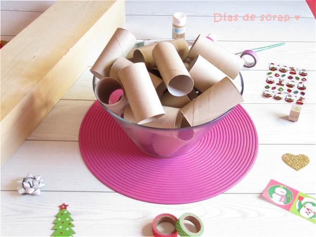 diy paso a paso calendario de adviento navidad niños