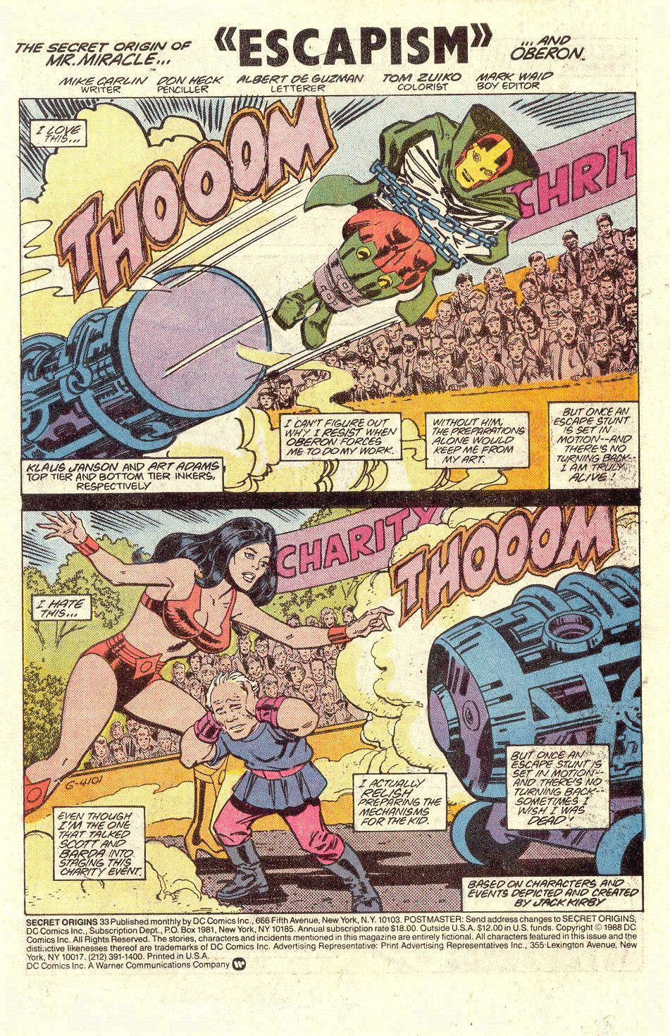 Read online Secret Origins (1986) comic -  Issue #33 - 2