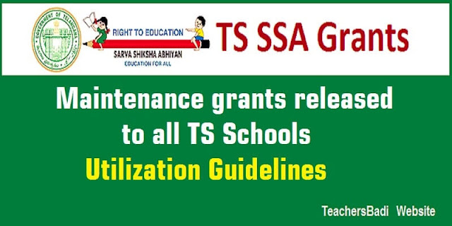 Maintenance grants,TS Schools,Utilization Guidelines