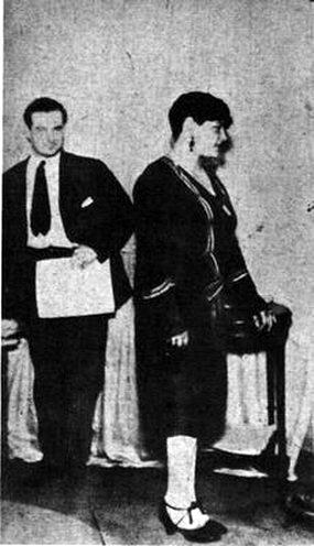 Azucena Maizani en 1923 cuando la llamaban Azabache