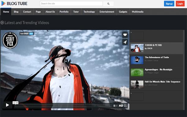 BlogTube Free Blogger Template