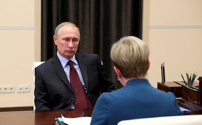 Vladimir Putin at the meeting with Murmansk Region Governor in the Kremlin