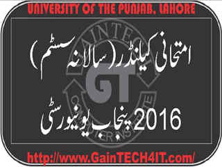 Download Examination Calendar 2016