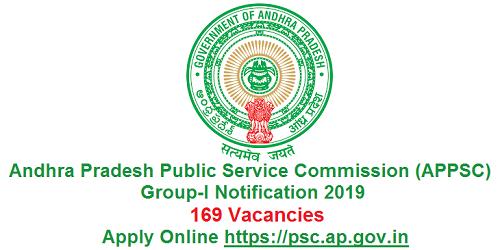 APPSC Group-I Recruitment Notification 2019