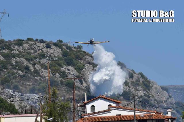 Αργολίδα: Μεγάλη πυρκαγιά στο Βιβάρι του Δήμου Ναυπλιέων