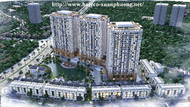 Phối cảnh dự án chung cư Hateco Xuân Phương