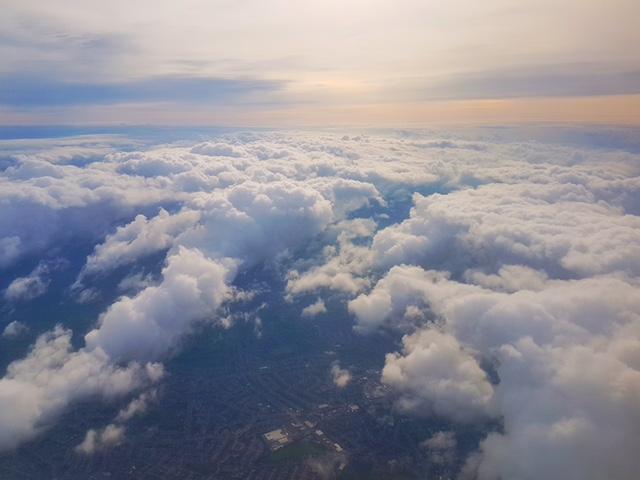 beautiful sky over london airport