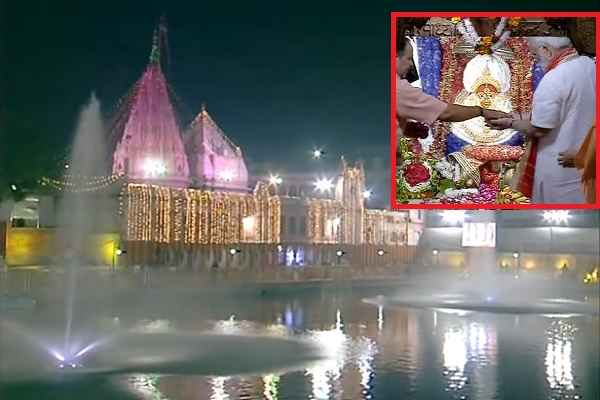 modi-modi-visited-maa-durga-kund-and-temple-in-varanasi-image