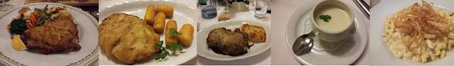 Piatti tipici della Foresta Nera: Cotoletta, Cordon Bleau, Filetto di Manzo, Zuppa di asparagi bianchi e Spaetzle