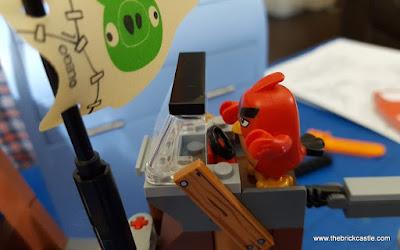 LEGO Angry Birds Pirate Ship wheelhouse red