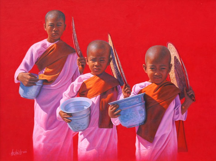 Лица монахов. Aung Kyaw Htet 17