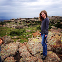 kate hart on elk mountain in the wichita mountains, oklahoma