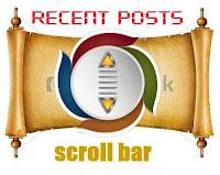 Tiện ích bài mới dạng thanh cuộn cho blogspot-Recent posts scroll bar
