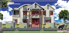 Duplex Home Elevation - 297 Sq M (3196 Sq. Ft) - January 2012