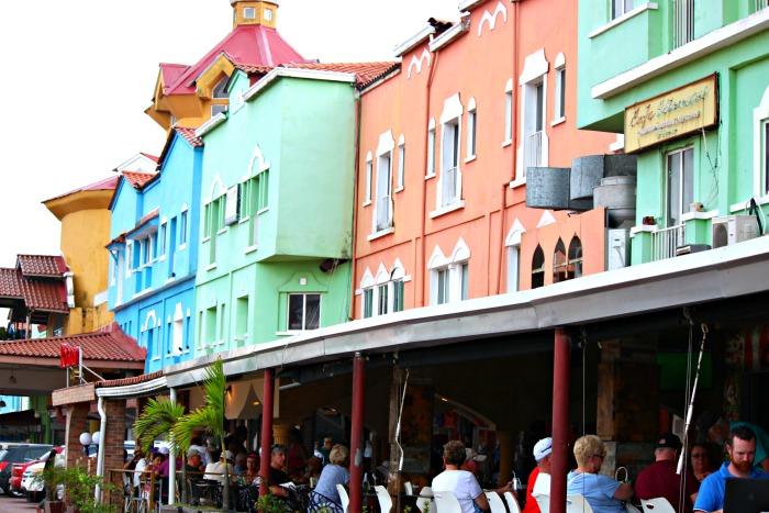 colorful buildings in colon panama