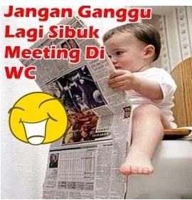 dp bbm bayi lucu lagi meeting