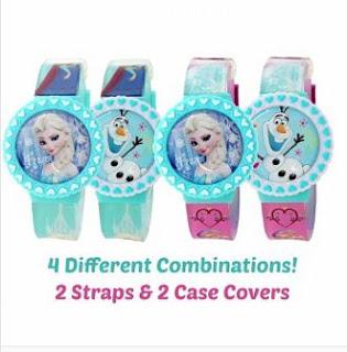 Jam Tangan Anak Karakter Kartun Elsa dan Olaf