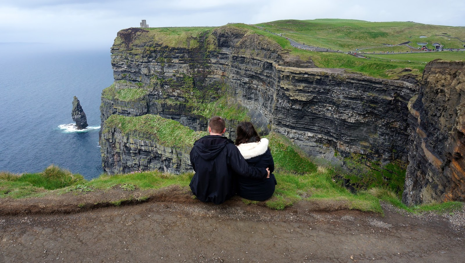 Couple at Cliffs of Moher Ireland