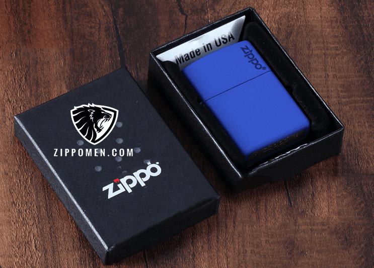 Zippo  Xanh Da Trời - MS07 | Bật lửa zippo | zippo usa