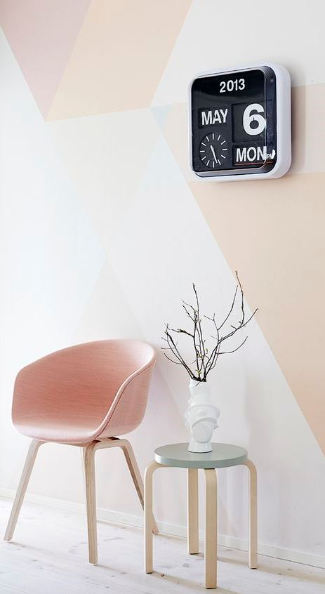 cool pastel interior design