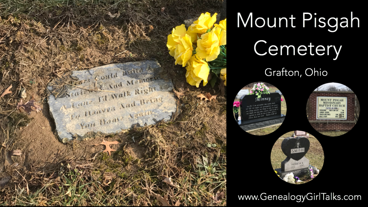 Mount Pisgah Cemetery, Grafton Ohio video by Genealogy Girl Talks