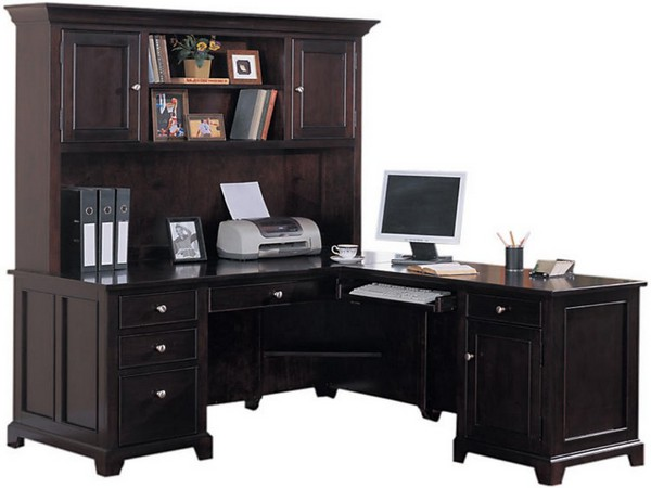 l shaped desk with hutch office depot