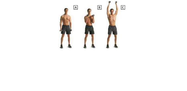 Dumbbell Hammer Curl and Press
