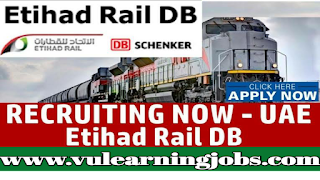 Etihad Rail DB Job Vacancies - UAE