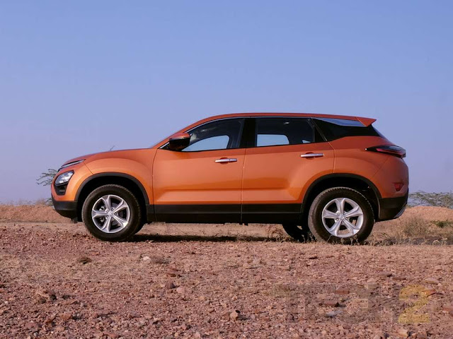New Tata Harrier side view pics