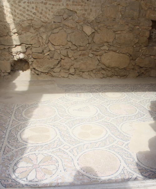 mosaic tile floor
