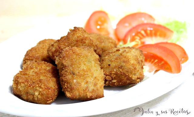 Cuadraditos de carne. Julia y sus recetas