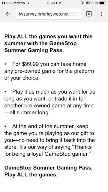 GameStop estaría pensando en lanzar un pase de juegos ilimitados por 100 euros para verano