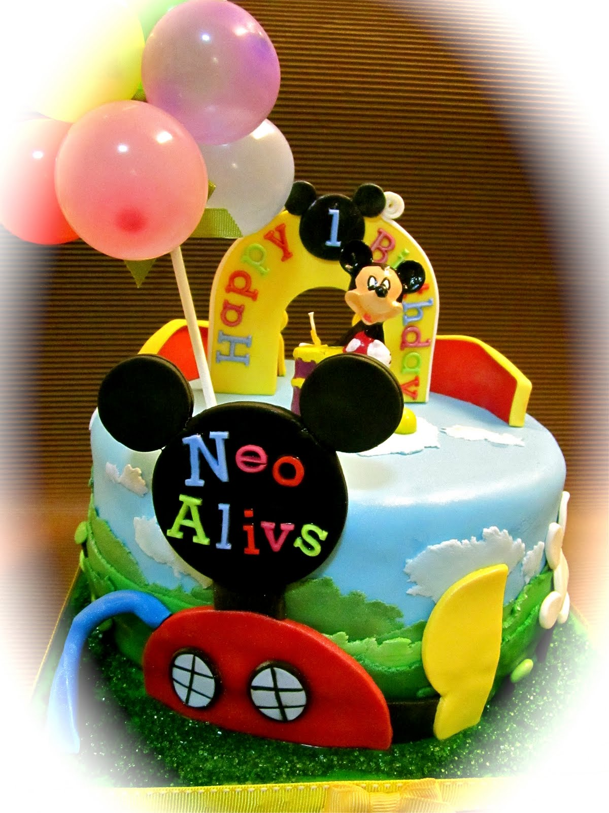 Sweet April The Story Of April Mickey Mouse Theme Cake