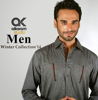 Al-karam Men Winter Collection 2014-15