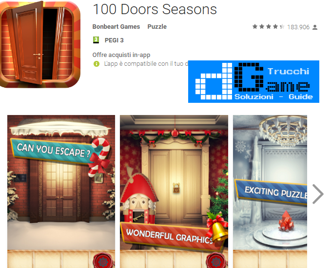 Soluzioni 100 Doors Seasons livello 51-52-53-54-55-56-57-58-59-60 | Trucchi e Walkthrough level