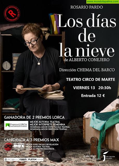 'Los días de la nieve' con Rosario Pardo en el Teatro Circo de Marte