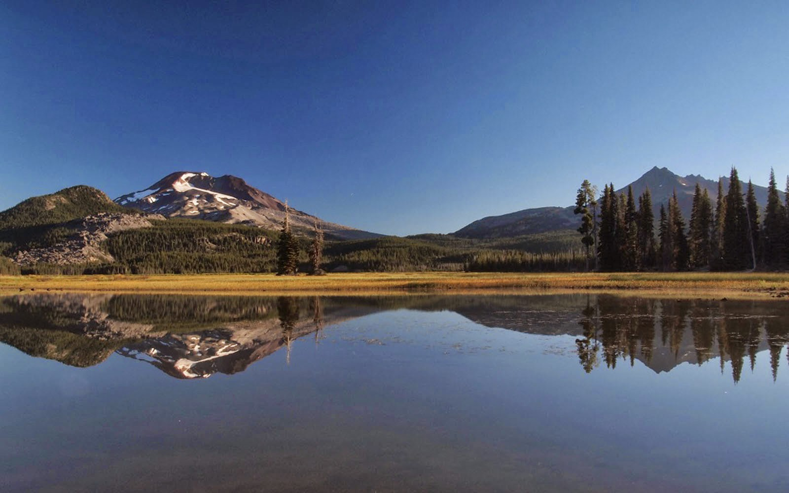 Wallpapers south sister sparks lake wallpapers - Nature background pictures for computer ...