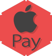 apple pay hexagon icon
