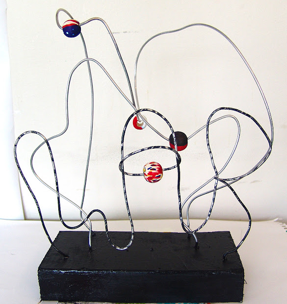 Cool Stuff Art Abstract Bead Wire Sculpture