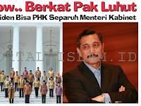 DUH! Gara-Gara Pak Luhut, Jokowi Bisa PHK Separuh Menteri Kabinet