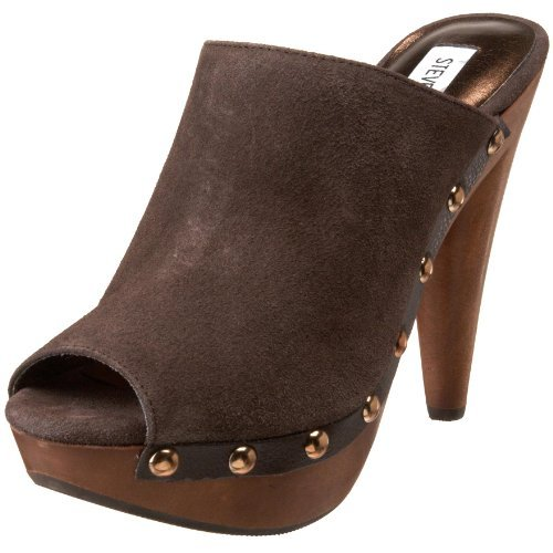 16e9a54c811 This chunky clog from Steve Madden sits on a raised platform with a steep  heel to accentuate your height. The leather or fabric upper covers your  instep in ...